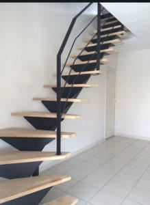 escalier de la surélévation à Merville