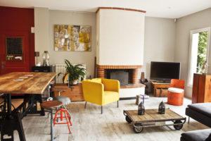 salon maison rénovée ramonville