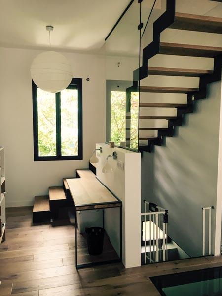 escalier design bois contigiani colomiers