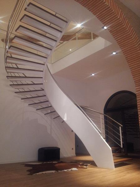 escalier fer & tendance