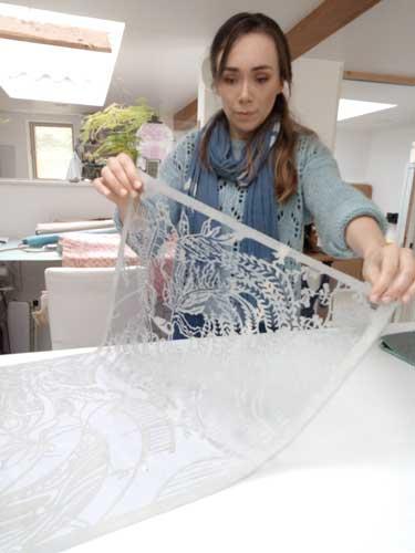 Laure Bénard Tissus Artisan d'art Toulouse