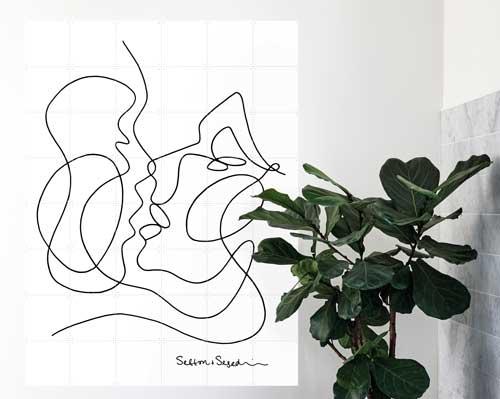 shopping salon tableau the kissing l'interprete toulouse