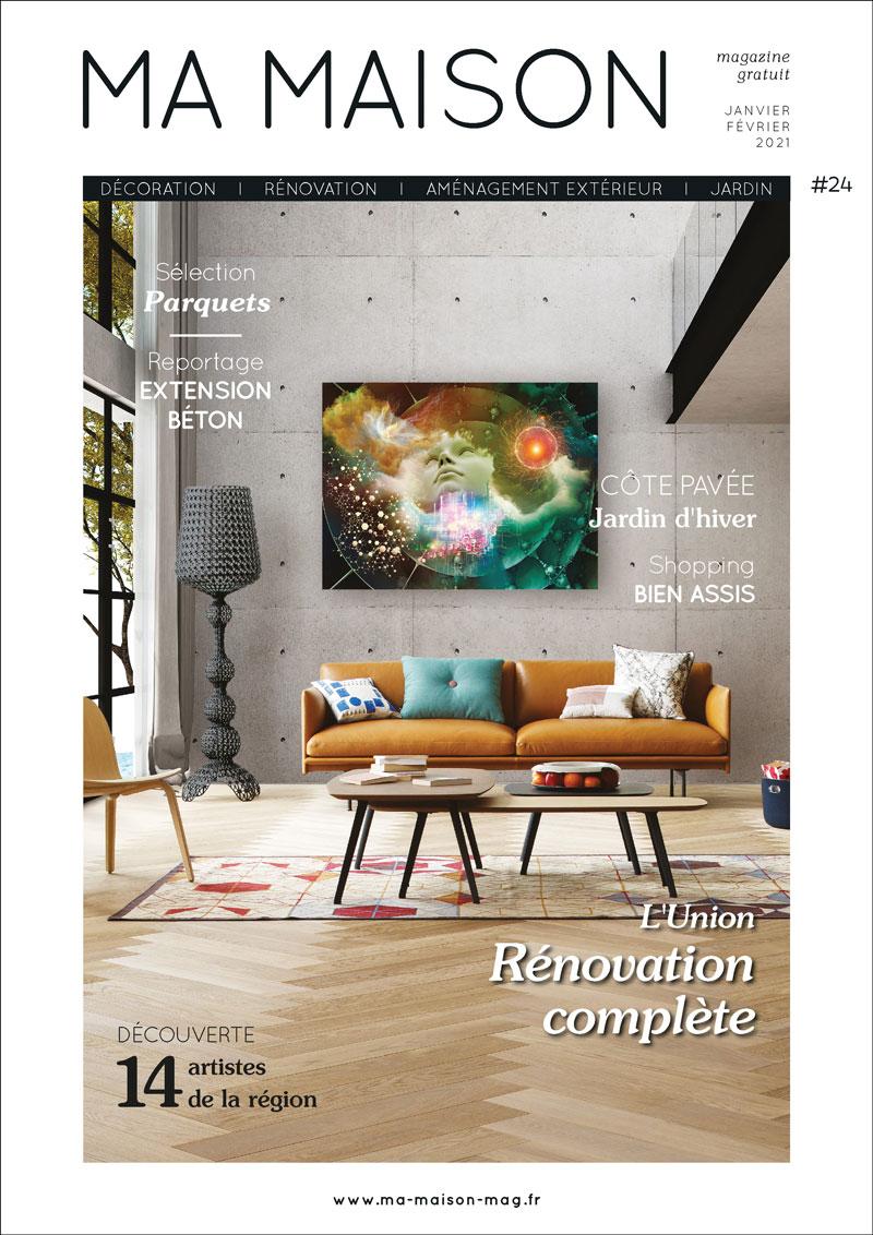 couverture ma maison magazine gratuit 24